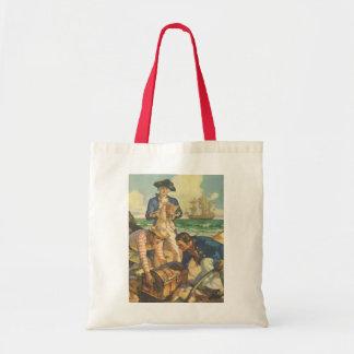 ヴィンテージのおとぎ話の海賊、宝物島 トートバッグ