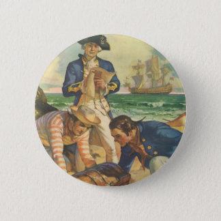 ヴィンテージのおとぎ話の海賊、宝物島 5.7CM 丸型バッジ
