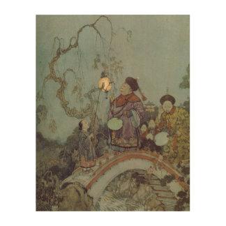 ヴィンテージのおとぎ話、エドマンドDulac著ナイチンゲール ウッドウォールアート
