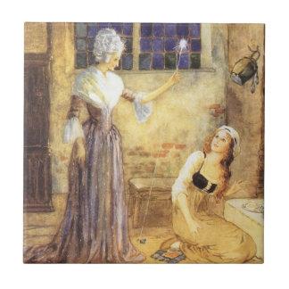 ヴィンテージのおとぎ話、シンデレラおよび妖精 タイル