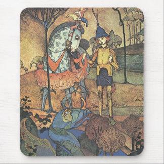ヴィンテージのおとぎ話、勇敢な騎士およびドラゴン マウスパッド