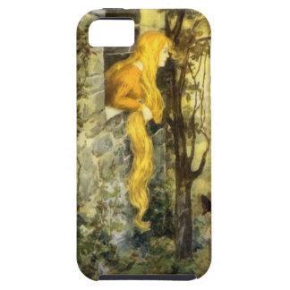 ヴィンテージのおとぎ話、長い金髪を搭載するRapunzel iPhone SE/5/5s ケース