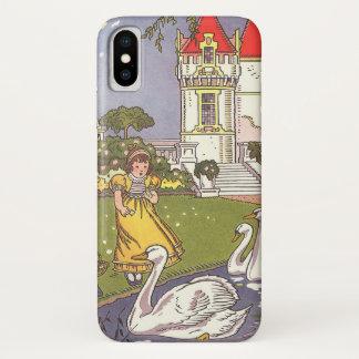 ヴィンテージのおとぎ話、Hauman著醜いアヒルの子 iPhone X ケース