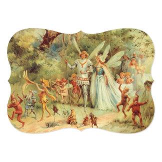 ヴィンテージのおとぎ話、Thumbelinaおよび王子Wedding カード