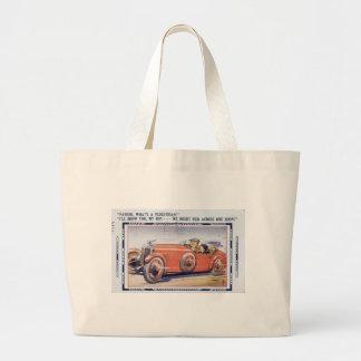 ヴィンテージのおもしろいなパパの運転者のエド ラージトートバッグ