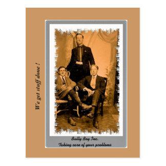 ヴィンテージのおもしろいな暴徒、集団、hoofdlumsの写真 ポストカード