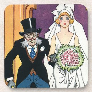 ヴィンテージのおもしろいな結婚式、ロマンス5月12月 コースター