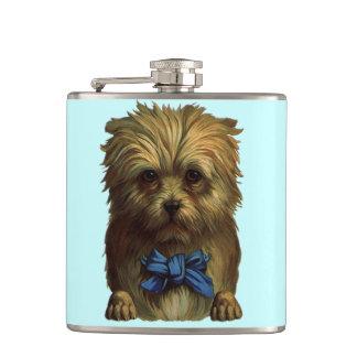 ヴィンテージのおもしろいテリアの甘くかわいい犬のHoochのフラスコ フラスク