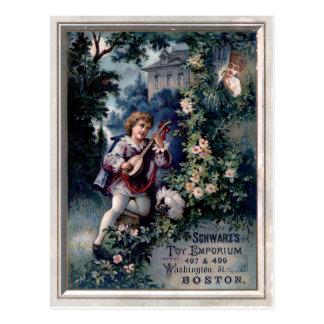 ヴィンテージのおもちゃの中心地の広告 ポストカード