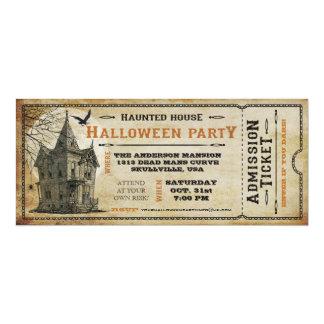 ヴィンテージのお化け屋敷のハローウィンパーティのチケットI カード