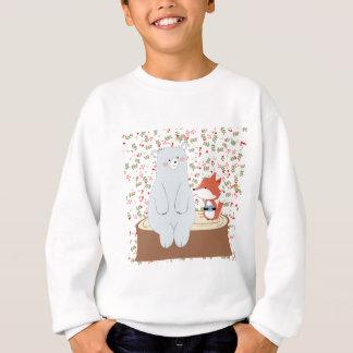 ヴィンテージのかわいい春の夏の孤のオオカミおよびテディー・ベア スウェットシャツ