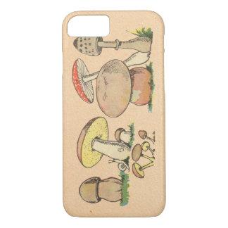 ヴィンテージのきのこ iPhone 7ケース