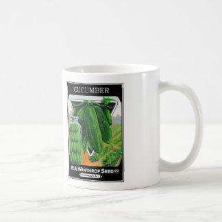 ヴィンテージのきゅうりの種のパッケージのラベル コーヒーマグカップ