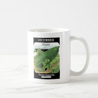 ヴィンテージのきゅうりの種の包みのマグ コーヒーマグカップ