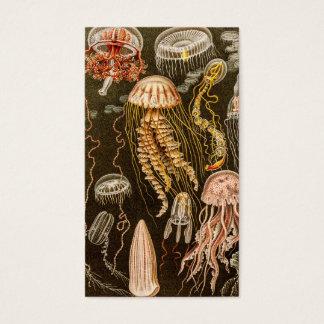 ヴィンテージのくらげの旧式なクラゲのイラストレーション 名刺