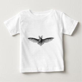 ヴィンテージのこうもりのイラストレーション ベビーTシャツ