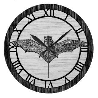 ヴィンテージのこうもりのイラストレーション ラージ壁時計