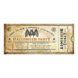 ヴィンテージのこうもりのハロウィンのチケットの招待状 カード