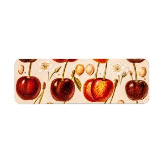 ヴィンテージのさくらんぼの変化の旧式なさくらんぼのフルーツ ラベル