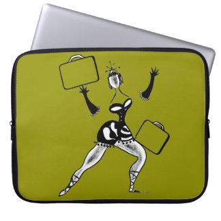 ヴィンテージのはっきりしたなレトロの女性の荷物のダンスリータLeff ラップトップスリーブ