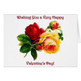 ヴィンテージのばら色のバレンタイン カード