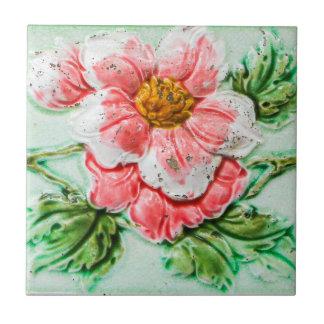 ヴィンテージのばら色の花のタイル タイル