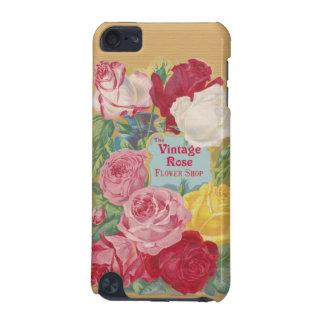 ヴィンテージのばら色の花屋の印 iPod TOUCH 5G ケース