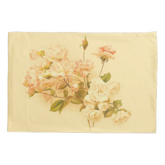 ヴィンテージのばら色の花束の花の花柄の枕カバー 枕カバー