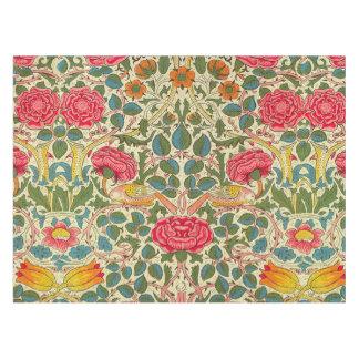 ヴィンテージのばら色のChintzの花柄パターン テーブルクロス