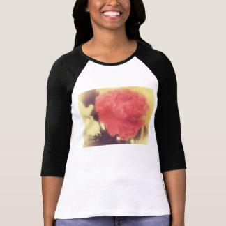 ヴィンテージのばら色のraglanのワイシャツの女性 tシャツ