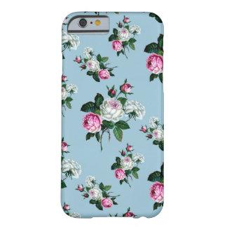 ヴィンテージのぼろぼろのシックなピンクの白いバラパターン BARELY THERE iPhone 6 ケース