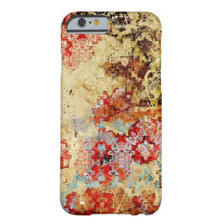 ヴィンテージのぼろぼろのシックな花のダマスク織のiPhone6ケース Barely There iPhone 6 ケース