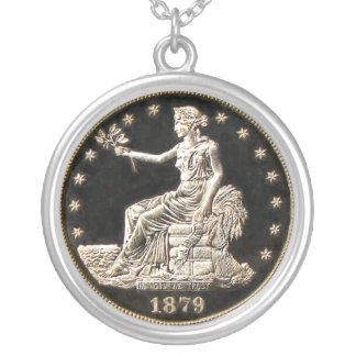 ヴィンテージのまれな硬貨 シルバープレートネックレス