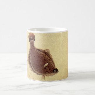 ヴィンテージのもがき、海洋の海の生命カレイ コーヒーマグカップ