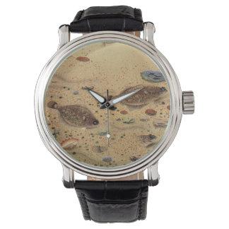 ヴィンテージのもがき、海洋の海の生命カレイ 腕時計