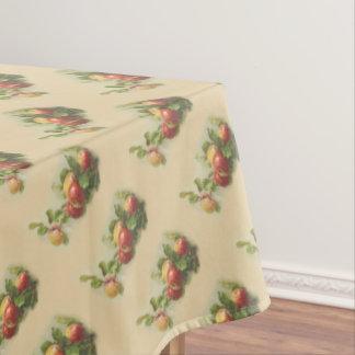 ヴィンテージのりんごの対角線パターン テーブルクロス