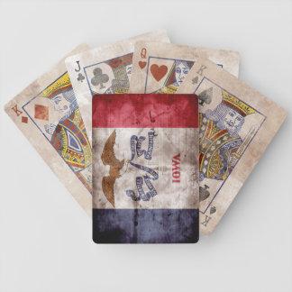 ヴィンテージのアイオワの旗のトランプ バイスクルトランプ