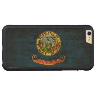 ヴィンテージのアイダホのグランジな州の旗 CarvedメープルiPhone 6 PLUSバンパーケース