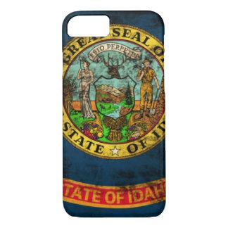 ヴィンテージのアイダホのグランジな州の旗 iPhone 8/7ケース