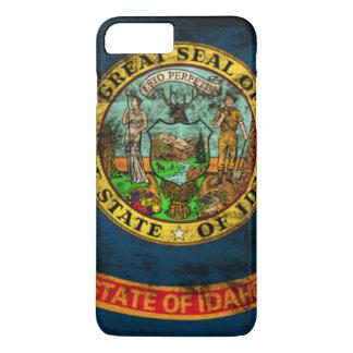 ヴィンテージのアイダホのグランジな州の旗 iPhone 8 PLUS/7 PLUSケース