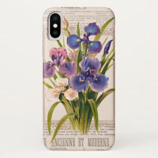 ヴィンテージのアイリスアンティークとモダンなコラージュ iPhone X ケース