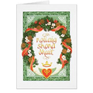 ヴィンテージのアイルランドのクリスマスカード カード