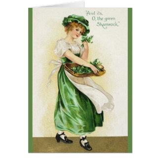 ヴィンテージのアイルランドのシャムロックのセントパトリックの日カード カード