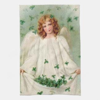 ヴィンテージのアイルランドの天使の台所タオル キッチンタオル