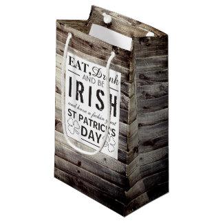 ヴィンテージのアイルランドの木製のセントパトリックの日 スモールペーパーバッグ