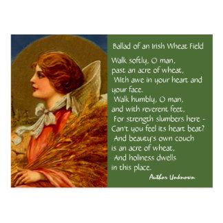 ヴィンテージのアイルランドの詩歌のSt patricks dayのPCの郵便はがき ポストカード