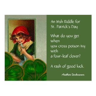 ヴィンテージのアイルランドの謎のSt patricks dayのPCの郵便はがき ポストカード