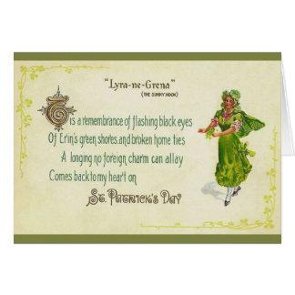 ヴィンテージのアイルランド人のセントパトリックの日の挨拶状 カード