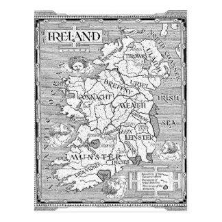 ヴィンテージのアイルランド人の地図 ポストカード