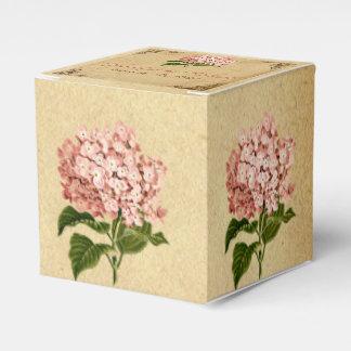 ヴィンテージのアジサイの結婚式の引き出物箱 フェイバーボックス